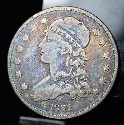 1837 Capped Bust Quarter - GREAT COLOR!