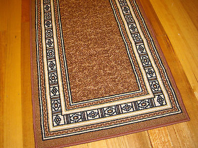 Hallway Runner Hall Runner Rug Modern Brown 5 Metres Long FREE DELIVERY 78809
