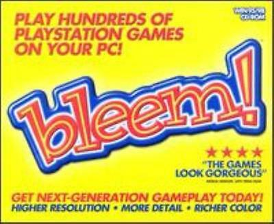 Bleem! PC CD run original classic Sony PlayStation 1 PS1 games on your computer