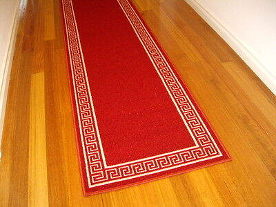 Hallway Runner Hall Runner Rug Modern Designer Red 6 Metres Long FREE DELIVERY