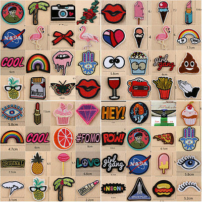 Embroidery Sew Iron On Patches Badge Transfer Bag Jeans Dress Clothing Applique