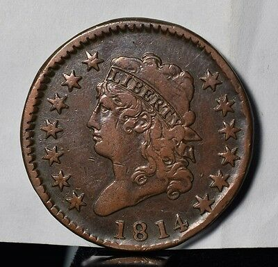 1814 Classic Head Large Cent - VF Detail