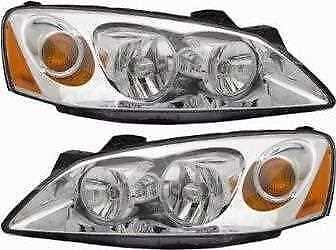 Left Right Pair (2) Head Lamp Assembly w/o Bulb Fits 05-08 2009 2010 Pontiac G6