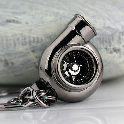 Creative Spinning Turbo Turbine Key Ring Keychain Key Chain Ring Keyfob Keyring