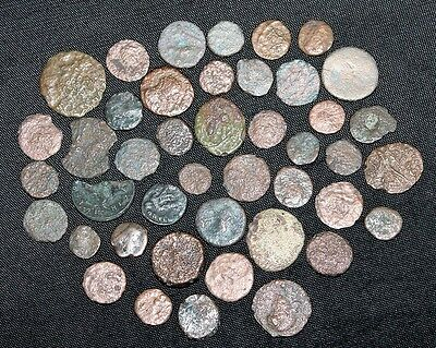 Lot of 43 Ancient Roman Coins Uncleaned Medium-Low Quality