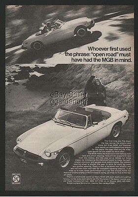 1977 MG MGB Open Road Classic Vintage British Leyland Photo Print Ad