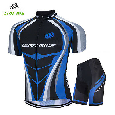 6c06de082 Men s Sport Wear Team Cycling Jersey Sets Bike Bicycle Top Short Sleeve  Clothing