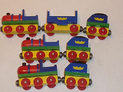 TRAIN BABAR locomotive wagon en BOIS jouet wood game HOLZ SPIEL atlas NELVANA