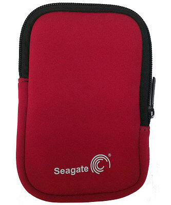 """Seagate Pouch Suits Portable 2.5"""" External Hard Drive Red"""