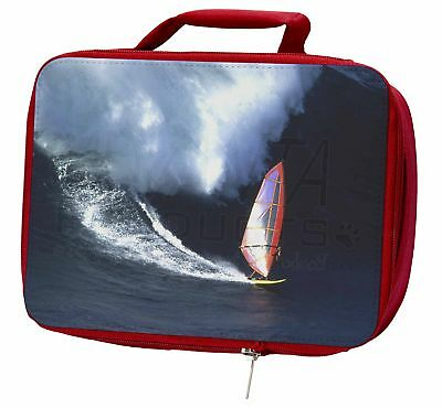 Wind Surfer Insulated Red School Lunch Box/Picnic Bag, SPO-WS2LBR