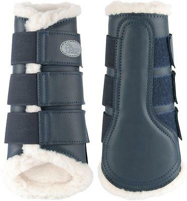 Flextrainer Horse Protection Boots with Fleece Lining. Navy Blue Harry's Horse
