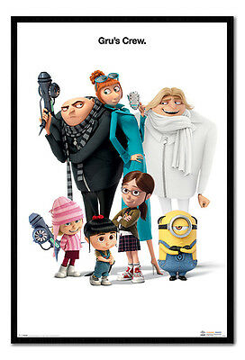 Framed Despicable Me 3 Gru's Crew Poster New