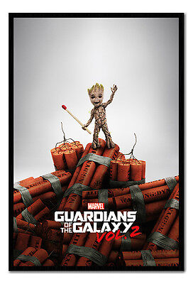 Framed Guardians Of The Galaxy Vol 2 Groot Dynamite Poster New