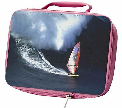 Wind Surfer Insulated Pink School Lunch Box Bag, SPO-WS2LBP