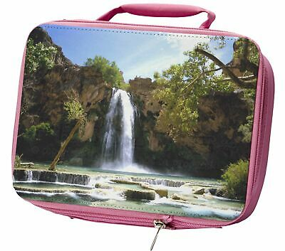 Waterfall Insulated Pink School Lunch Box Bag, W-1LBP