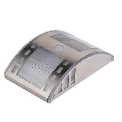 Stainless Steel Solar PIR Motion Sensor Garden Wall Light Lamp Warm White