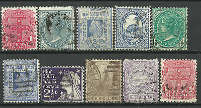 NEW SOUTH WALES Collection 10 Different COLONIES STATES Stamps Used (Lot 7)
