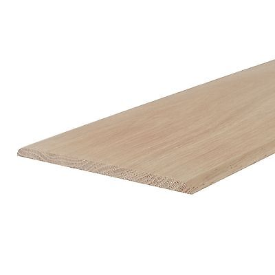 OAK FLAT STRIP BEAD - 0.9m LENGTH (WIDE DOUBLE ROUND) beading/capping/threshold