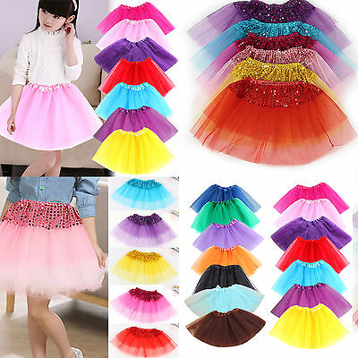 Ballet Tutu Princess Dress Up Dance Wear Costume Party Girl Toddler Kids Skirt A