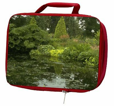 Garden Pond Insulated Red Lunch Box, W-3LBR