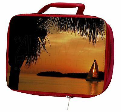 Sunset Sailing Yacht Insulated Red Lunch Box, SUN-2LBR