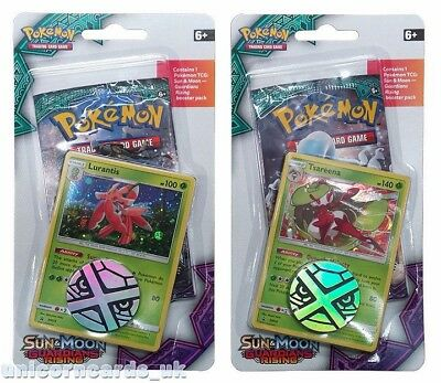 Pokemon Sun & Moon Guardians Rising Checklane Blister Packs: Tsareena + Lurantis