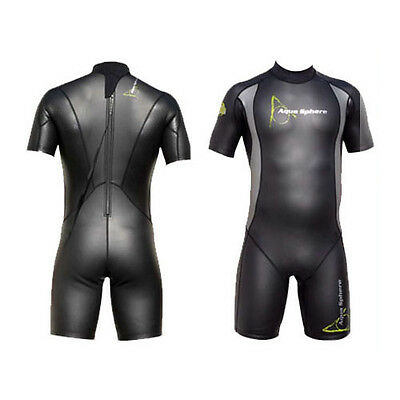 Aqua Sphere Mens Aqua Skin Shorty Men Open Water Wetsuit Swimming Surfing Sea