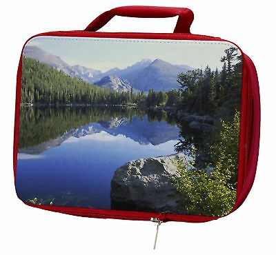 Tranquil Lake Insulated Red Lunch Box, W-2LBR