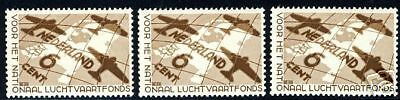 Netherlands Sc#b81, Nvph#278 Mint Nh Lot Of Three