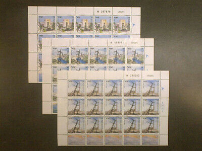 Israel  Electricity  Sheet Set  Mint Nh Scott#1084/86