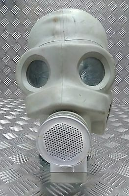 Genuine Military Issue Rubber / Latex Grey Stretch Respirator Mask No Filter