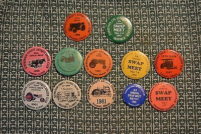 Stephenson County Antique Engine Club Annual Meet Pins - Early farm tractors