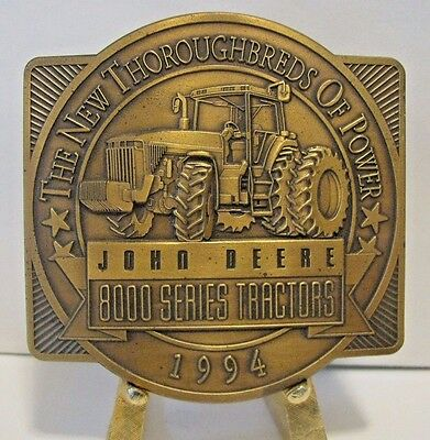 1994 John Deere 8000 Series 8100 8200 8300 8400 Tractor Brass Belt Buckle Ltd Ed