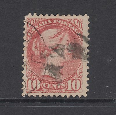 Canada Sc 45 used 1888 10c brown red Small Queen F-VF