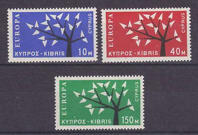Cyprus Sc 219-221 MLH. 1962 Europa, complete set