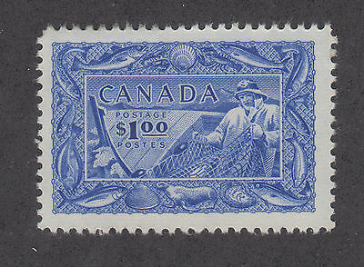 Canada Sc 302 MNH. 1951 $1 bright ultra Fishing Industry VF