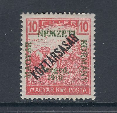 Hungary Sc 11N24 MLH. 1919 10f rose red Sowers w/ ovpt