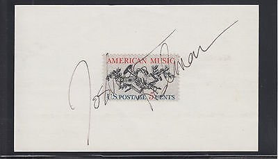Johua Redman, jazz saxophonist, signed card with 5c American Music stamp