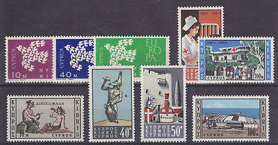 Cyprus Sc 201/250 MLH. 1962 issues, 3 cplt sets F-VF