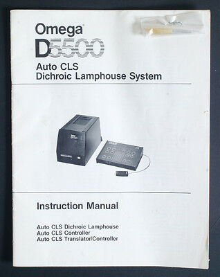 Omega D5500 Auto Cls Dichroic Lamphouse System Instructions Manual