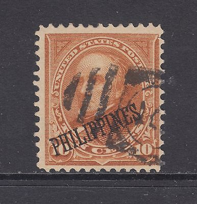 Philippines Sc 217A used 1899 10c Webster, type II, Fine