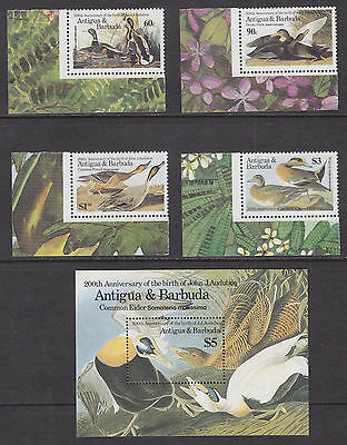 Antigua Sc 910-914 MNH. 1986 North American Ducks incl Souv Sheet