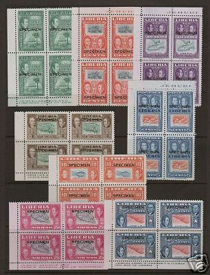 Liberia Sc 332/C69 MNH. 1952 Views, SPECIMEN blocks, XF