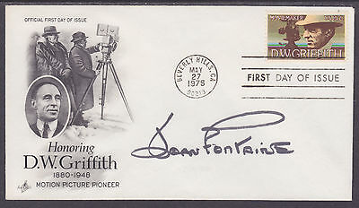 Joan Fontaine, American Actress, signed D.W. Griffith FDC
