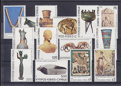 Cyprus Sc 538-551 MNH. 1980 Archeological Finds cplt