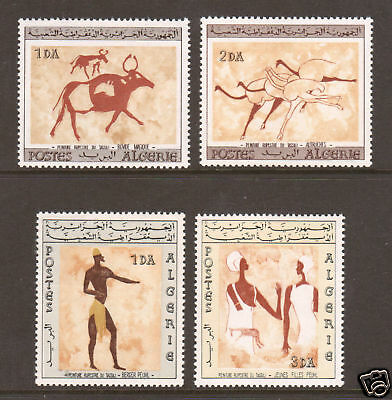 Algeria Sc 344-47 MNH. 1966 Wall Paintings cplt VF  4;9