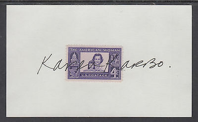 Karen Karbo, Author, signed 4c American Woman stamp