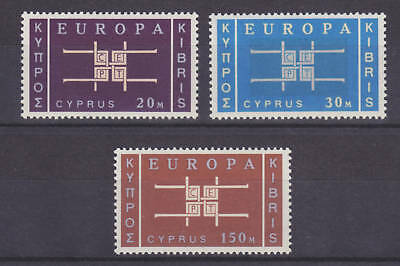 Cyprus Sc 229-231 MLH. 1963 EUROPA-CEPT issue,  cplt set