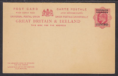 Great Britain, Morocco H&G 15 mint 1906 Double Card