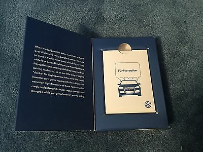 Volkswagen Jetta Funfversation promotional  giveaway -card game in box